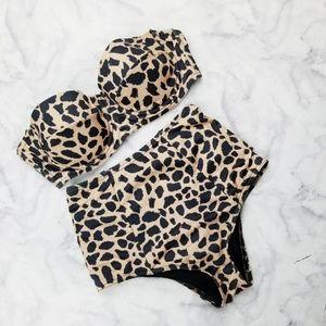 Asos|Retro Style Cheetah Print High Waist  Bikini